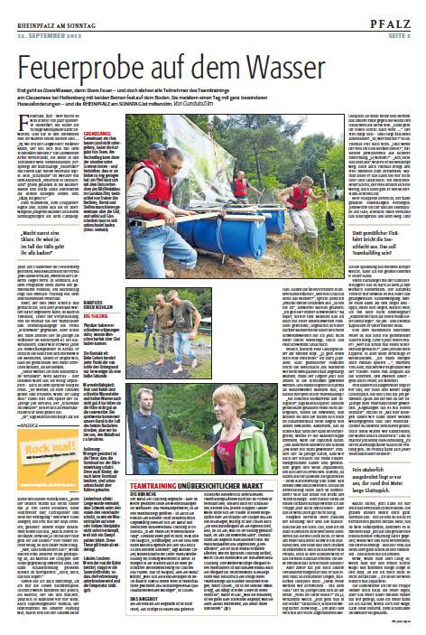 Zum öffnen bitte anklicken. Quelle: Rheinpfalz. 22.09.13